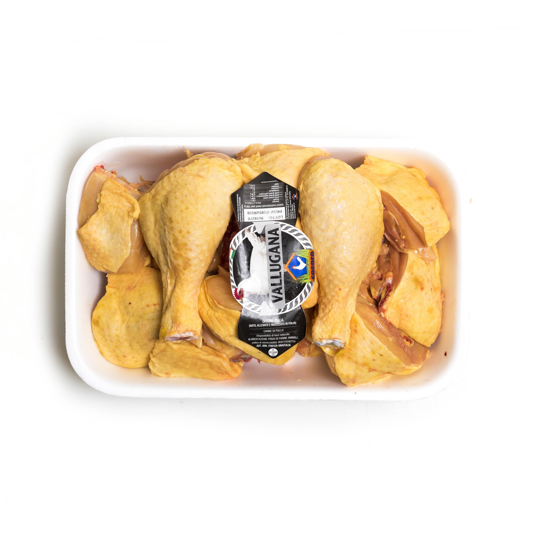 Pollo spezzato da 2,5 kilogrammi
